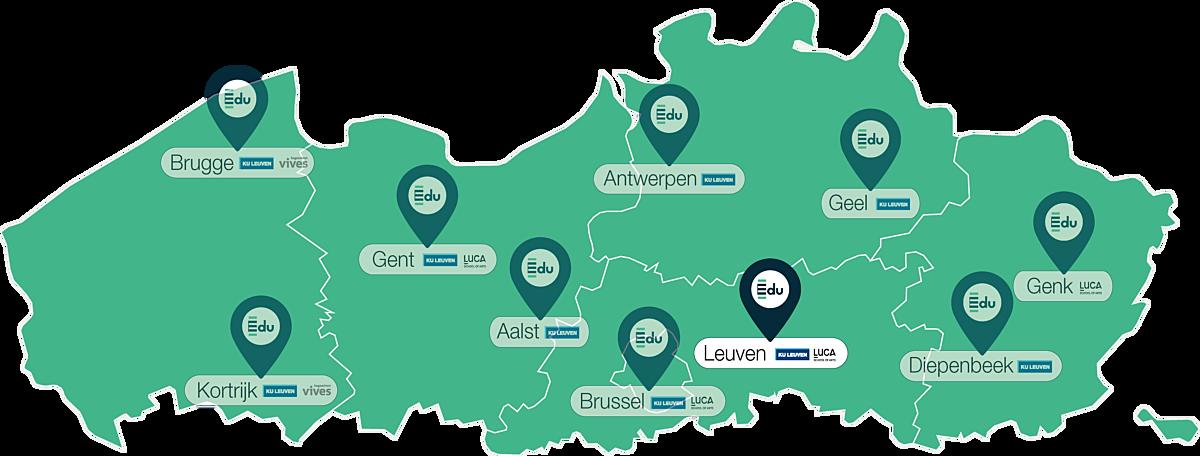 Kaartje lerarenopleiding Edu in Leuven